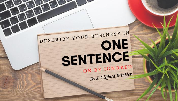 One Sentence Blog